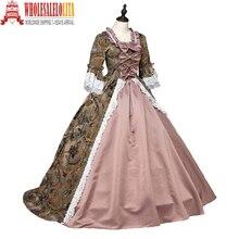 High Quality Southern Belle Renaissance Georgian Marie Antoinette Colonial  Brocade Period Dress Ball Gown Steampunk Clothing b53bc746b9a4