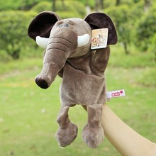 Hot Sale Plush Puppet Elephant Doll Early Educational Hand Puppets Best Birthday Christmas Toy Gifts For Kids Children