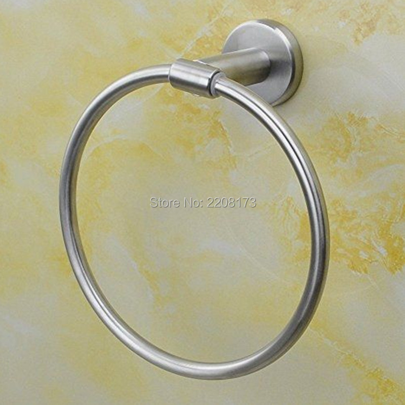 Wholesale And Promotions Retail Bathroom Lavatory Towel Ring SUS304 Stainless steel Wall Mount Brushed Bathroom Accessories<br><br>Aliexpress