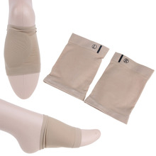 1 Pair Gel Plantar Fasciitis Arch Support Sleeve Arch Socks Heel Cushion Foot Pads Patch Feet Care Pads Patch Socks Massage(China)