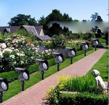 Solar Powered Saving Bright Outdoor Garden Yad Path Patio Lawn Grass Landscape Spot LED Light Lamp Spotlight