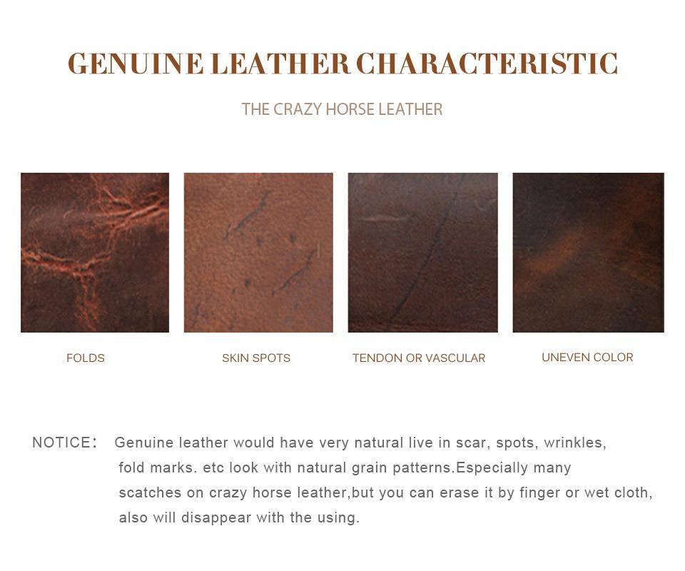 J.M.D Genuine Cow Leather Men's Black Briefcase Laptop Bag Multi-Compartment Design Large Capacity Mens Travel Bag 7319A
