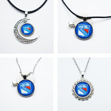 3Style New Arrival Pendant Necklace NHL NY Rangers Sports Team Charm Time Gem Pendant 10PCS(China)