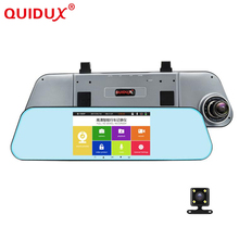 "QUIDUX 5"" Touch screen Car DVR Dual Lens Full HD 1080P Rearview Mirror ADAS Night Vision vehicle Video Camera Recorder Dash cam(China)"
