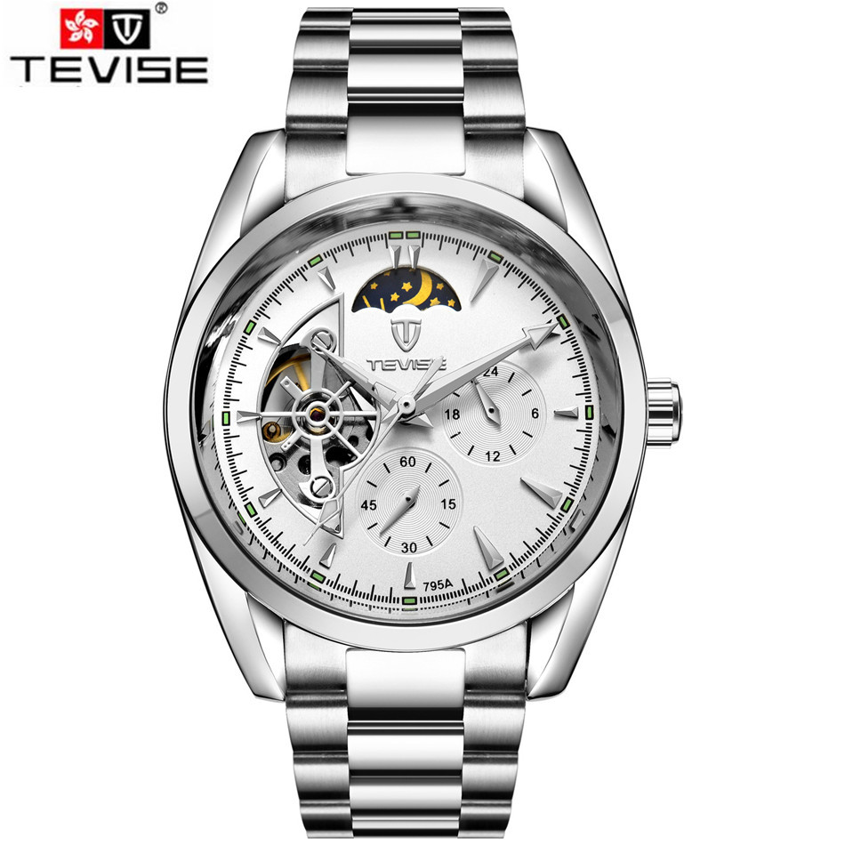 Tevise Casual Watch Horloges Mannen 2017 Mens Day Moonphase Auto Watch Mechanical Watches Mens Wristwatches Gift Box Free Ship<br><br>Aliexpress