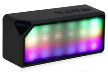 Multi-Color Flash LED Light Wireless Bluetooth 2.0 Speaker with Built-in Speakerphone Rechargeable Battery