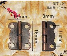 6*13mm small red bronze butterfly  hinge 180 wooden lace small box hinges