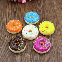 1PCS Mini Cute Doughnut Squishy Slow Rising Soft Squeeze Cell Phone Straps Bread Antistress Scented Key Pendant Charms Kids Toys
