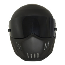 Matte Black Fiberglass USA DOT Approved  Motocross Helmets Warm Windproof Sand Dust Proof Flip Up Moto Helmet