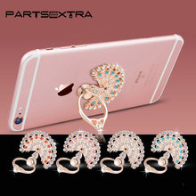 360 Degree Metal Bling Rhinestone Finger Ring Mobile Phone Smartphone Stand Holder For iPhone Samsung Xiaomi GPS MP3 Car Stander