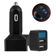 Best price   4 In 1 Dual USB Car Charger Adapter Voltage DC 5V 3.1A Tester For iPhone