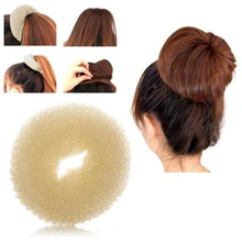 Sale Womens Fashion Trendy Ball Head Disk Donuts Hair Hairdressing tools Hair Accessories 3 Colors(China)