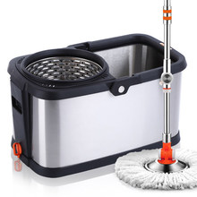 Rotating mop bucket d5 stainless steel mop double bucket mopping the floor mop