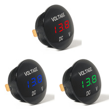 Waterprof Car LED 12-24V Short Circuit Protective Battery Monitor Accurate Digital Display Voltage Meter Thermometer Hot Sale