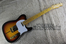 Free Shipping New Sunburst Custom Shop TUFF DOG Signature telecaster Electric Guitar Quintana Tiger maple Golden Hardware   @17