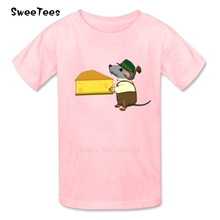 Bavarian Mouse Cheese T Shirt Baby Cotton Short Sleeve O Neck Tshirt Children Clothing 2017 Discount T-shirt For Boys Girls(China)