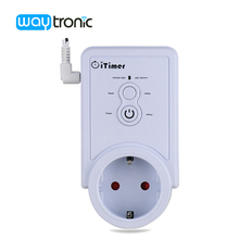 GSM 2G Power Plug Socket with Temperature Sensor Intelligent Temperature Control Russian SMS Remote Control(China)