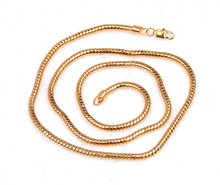 60cm Long Men's Jewelry Round Gold Color Chain Necklaces For Men