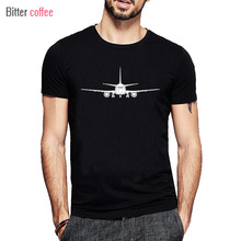 BITTER COFFEE 2017 NEW Printed Boeing Aereo T Shirt O-Neck Popular One Piece T-Shirt Cotton Tops & Tees XS-XXL(China)