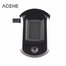 High Sensitivity ALC Smart Breath Alcohol Tester Digital LCD Breathalyzer Analyzer AT6000 With 5 Mouthpiece 2017 Top Sale(China)