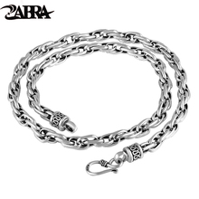 ZABRA Vintage Chain For Men Thailand Handmade Link Female Male Water Twist Superstar Real 925 Sterling Silver Chain Necklace(China)