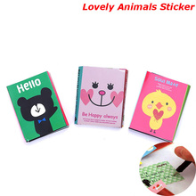 Animal Cat Bear Cute Kawaii Sticky Notes Post It Memo Pad School Supplies Planner Stickers Paper Bookmarks Korean Stationery(China)
