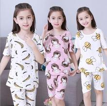 NEW Kids Clothes Baby Boys Shorts Sleeve Cotton Pajamas Childrens Sleepwear Pyjamas Sets Girls pajamas nightgown sport set(China)