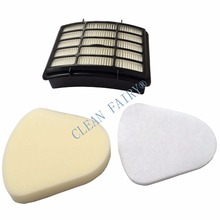 Filter Kit for Shark Navigator Lift-away NV350, NV351, NV352, NV355, NV356, NV357, Pre-filter Foam&Felt + 1 HEPA Filter