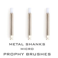 40 Pieces Dental Polishing Brush Disposable Metal Shanks Micro Prophy Brushes