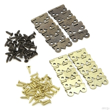 10x Mini Butterfly Door Cabinet Drawer Jewellery Box Hinge Furniture 20mm x17mm Furniture Hardware Hinges New Drop ship(China)