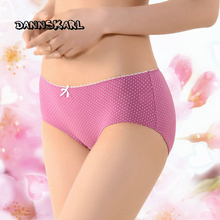 now Pure Cotton Woman panties Lovely In Waist Bow Ma'am Full Cotton Candy Girl Will Code Underpants(China)