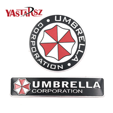 Car styling 3D Aluminum alloy Umbrella corporation car stickers Resident Evil decals emblem decorations badge auto accessories