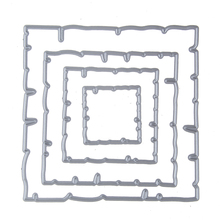 101*101mm frame Metal cutting dies stencils Greeting Card Decoration DIY Scrapbooking Scrapbook Paper Photo Album Craft Dies