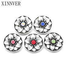 Buy 10Pcs/lot Xinnver Snap Jewelry Crystal Flower Snap Button Fit 18MM Snap Bracelet Women DIY Charms Jewelry ZA669 for $3.23 in AliExpress store