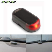 Onever 1PCS Car Led Light Security System Warning Theft Flash Blinking Fake Solar Car Alarm LED Light