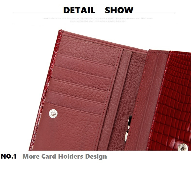 VICKAWEB Genuine Leather Small Wallet Women Wallets Alligator Short Purse Coins Hasp Girls Wallet Fashion Female Ladies Wallets-020