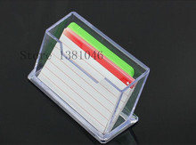 Transparent Clear Plastic Business Card Holder Display Stand