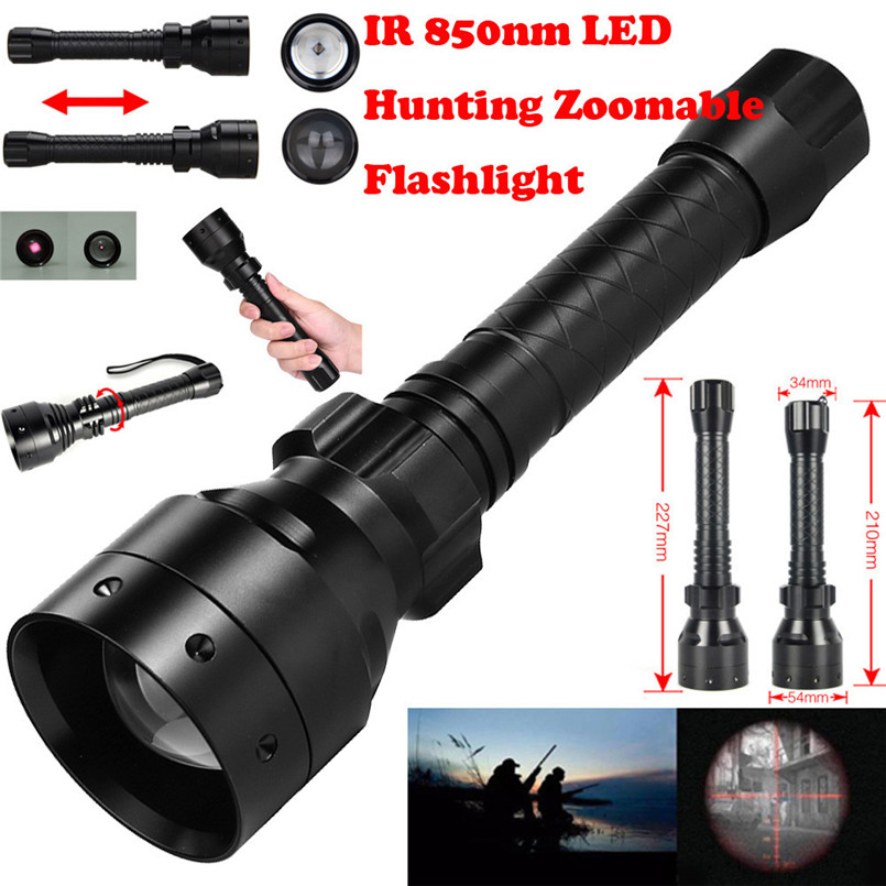 Long Range Infrared 10W IR 850nm T50 LED Hunting Light Night Vision Torch 18650 A1
