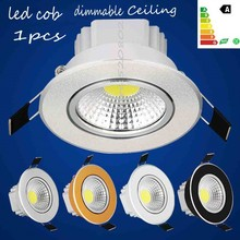 1pcs Super Bright Dimmable Led Downlight COB Ceiling 6w 9w 15w ceiling recessed Lights Warm Cool White Red bule Indoor Lighting(China)