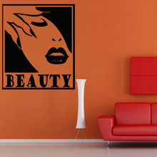 Wall Decal Beauty Salon Hair Nails Inscription Advertisement Signboard(China)