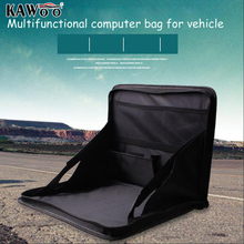 KAWOO Car Styling Car Folding Laptop Holder Computer Desk Mount Auto Multifunctional Grocery Bags Storage Box Accessories