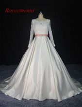 Buy 2017 New Design hot sale high long sleeve Wedding Dresses vestidos de novia Bridal gown custom made factory ball gown for $198.00 in AliExpress store