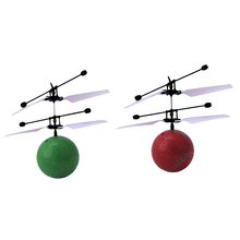 Infrared Induction Flying Ball Toy Helicopter Fun Kids Outdoor Fly Ball Toy LED Light Flashing Toy Cool Birthday Xmas Gift(China)