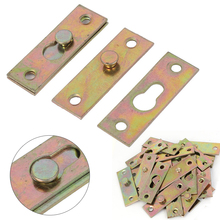 Mayitr 4pcs Brass Tone Furniture Wood Bed Rail Bracket Fittings Hook Plate Connector For Home Tools Hardware Accessories(China)