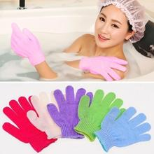 100% Nylon Exfoliating Bath Glove Five Fingers Bath Gloves Family L40(China)