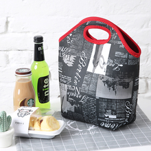 high quality soft neoprene tote lunch bag portable picnic box food wine fresh cooler bags ice pack light cool handbags(China)