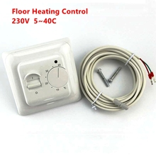 Electric Floor Heating Room Thermostat Temperature Controller Warm Thermostat 220V 230V with NTC Sensor Programmable Universal(China)