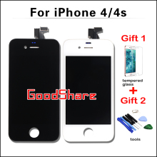 2 Free Gifts+AAA Quality LCD Screen For iPhone 4/4s Display Digitizer Assembly Replacement Pantalla Black/White Test Work Well