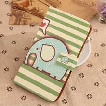 Exyuan  Fashion Pop PU Leather Cover Flip Card Holder Mobile Phone Case For BQ Aquaris U Plus 5''