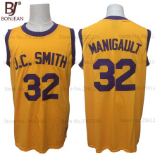 "BONJEAN Cheap Men and Youth Don Cheadle Earl ""The Goat"" Manigault 32 J.C. Smith College Basketball Jersey Rebound Stitched Shirt(China)"